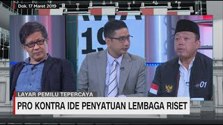 Rocky Gerung & Nusron Wahid Debat Wacana Penyatuan Lembaga Riset