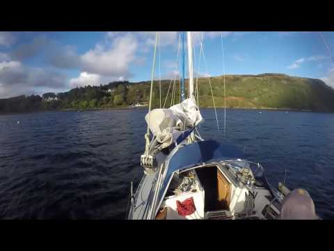 Single handed sailing from Mallaig to Portree