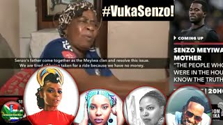 Oh No! 😢Celebs Stan heartbroken after viral video of Senzo Meyiwa's Mother calling her son and