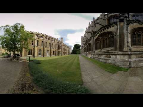 360VR King's College Chapel - Cambridge, England - 360 Video [Stock Footage] $350
