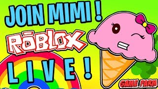 MIMI PLAYING ROBLOX LIVE MIT EVEVRYONE!