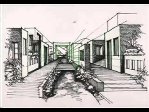 Dibujo de paisajes con punto de fuga youtube for Exterior a un punto de fuga