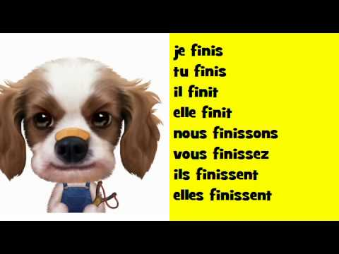 Let 39 s sing the french conjugation soul verb finir for Porte french conjugation