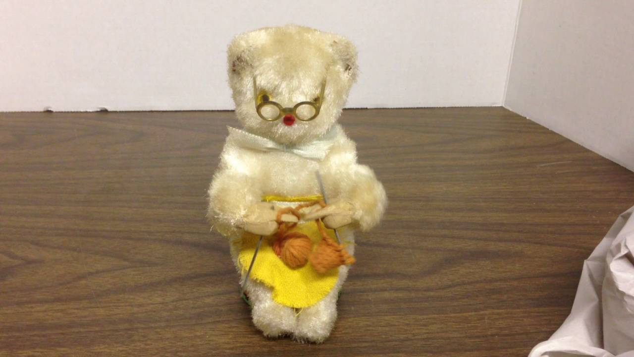 Steele Toy Wind Knitting Litho Cat Japan Tin Vintage Rosko 1950's Inc Up Working N80PnXZOkw