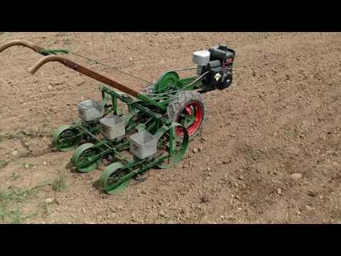 Planet Jr Bp1 With 3 Row Seeder Planting Carrots
