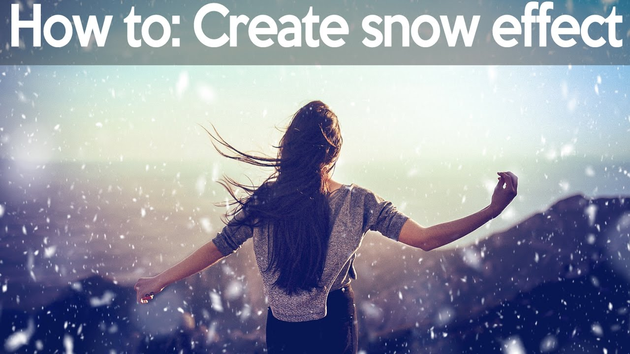 How to Create Snow in Photoshop: Brushes, Filter and Animation