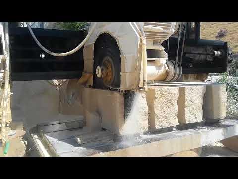 Процесс производства плит из травертина - г. Жалал-Абад. Кыргызстан