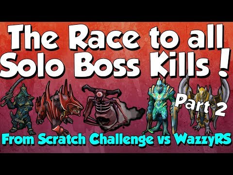 The Race to all Solo Boss Kills Challenge vs WazzyRS! [Runescape 3] Part 2/2