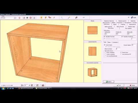 spazio3d es el software cad-cam para mobiliario - youtube - Software Diseno Muebles