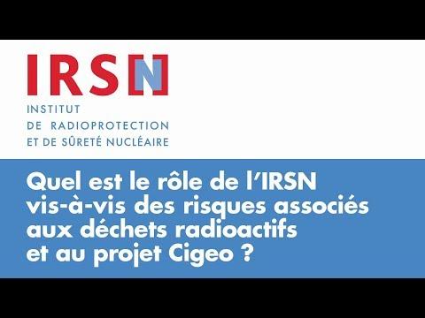 Quel est le rôle de l'IRSN vis-à-vis des risques associés aux déchets radioactifs ?