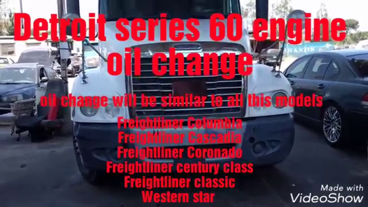 small resolution of detroit series 60 oil change