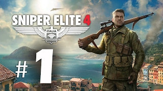Sniper Elite 4 Gameplay Walkthrough Part 1 - Camping Cheese! PS4 Pro