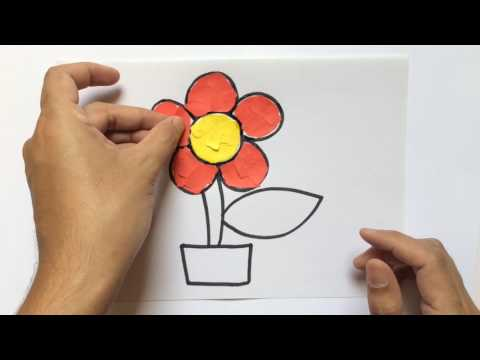 LEARN HOW TO DO COLLAGE FLOWER VISUAL ART ATTACK MUST WATCH