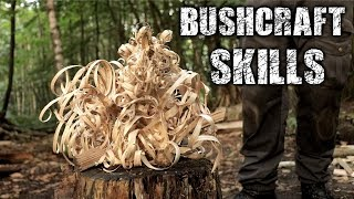 Bushcraft Skills - Axe & Knife Skills, Camp Setup, Fire (Overnight Camping)