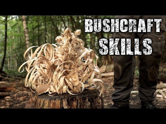 Bushcraft Skills - Axe & Knife Skills, Camp Setup, Fire (Overnight Camping)