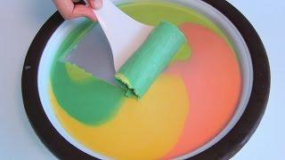 Homemade Ice Cream Rolls Maker Hapiroll Vanilla & Colorful