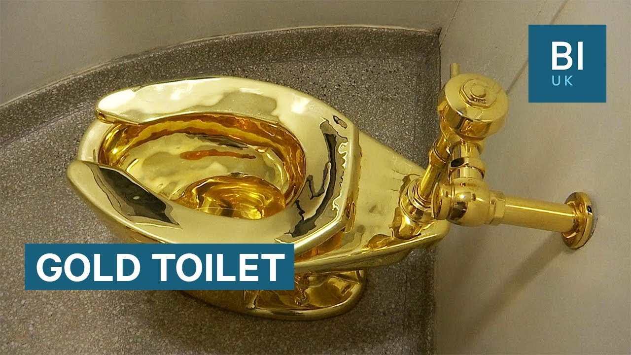 24k gold toilet paper. There s an 18 karat gold toilet in New York  YouTube