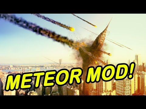 Minecraft | METEOR MOD! | Entire city wiped out! (Again)