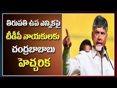 Chandrababu Naidu Warns to TDP Leaders Over Tirupati By Elections | AP Politics | TV5 News