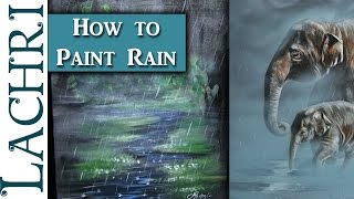 How to paint rain and fog - Acrylic painting tips and techniques w/ Lachri