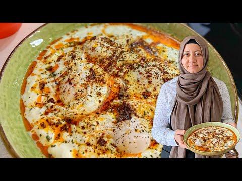 How To Make Cilbir / Turkish Eggs - Aysenur Altan