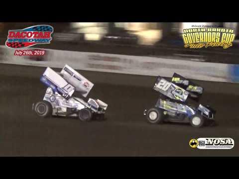 Dacotah Speedway Sprint Car A-Main (2019 Governor's Cup Night #1) (7/26/19)