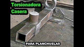 Torsinadora Para Planchuelas (CASERA) Con materiales Reciclados...