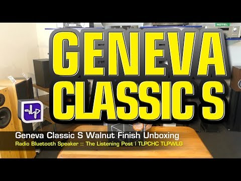 Geneva Classic S Bluetooth Radio Walnut Finish Unboxed | The Listening Post | TLPCHC TLPWLG