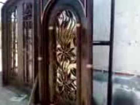 Herreria decor arte y mas y chimeneas youtube for Puertas de herreria forjada