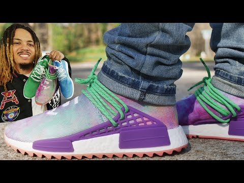 ADIDAS HUMAN RACE NMD PHARRELL HOLI FESTIVAL COLLECTION REVIEW AND ON FOOT !!!