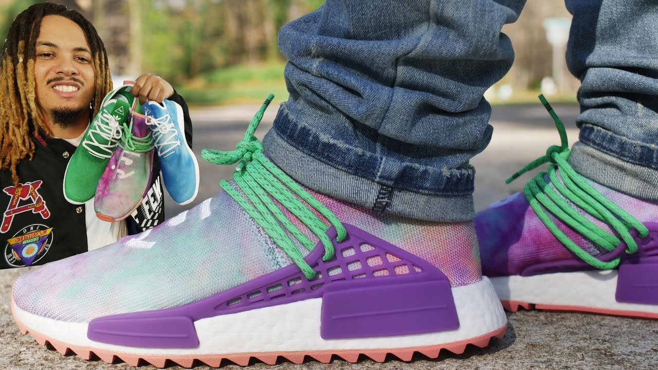 ADIDAS HUMAN RACE NMD PHARRELL HOLI FESTIVAL COLLECTION REVIEW AND ON FOOT  !!! 819e7208a