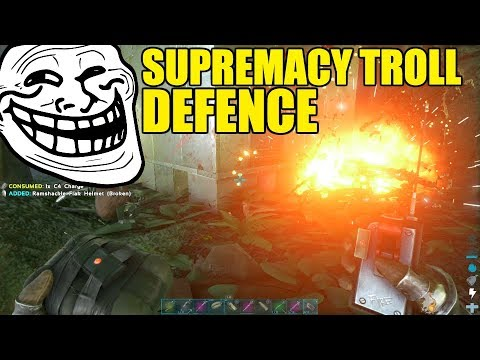 SUPREMACY TROLL DEFENCE - NEMESIS VS SUPREMACY MEGA WAR - OFFICIAL ARK DEFENCE RAID