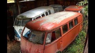 Forgotten Volkswagen Split Window Bus Hoard.