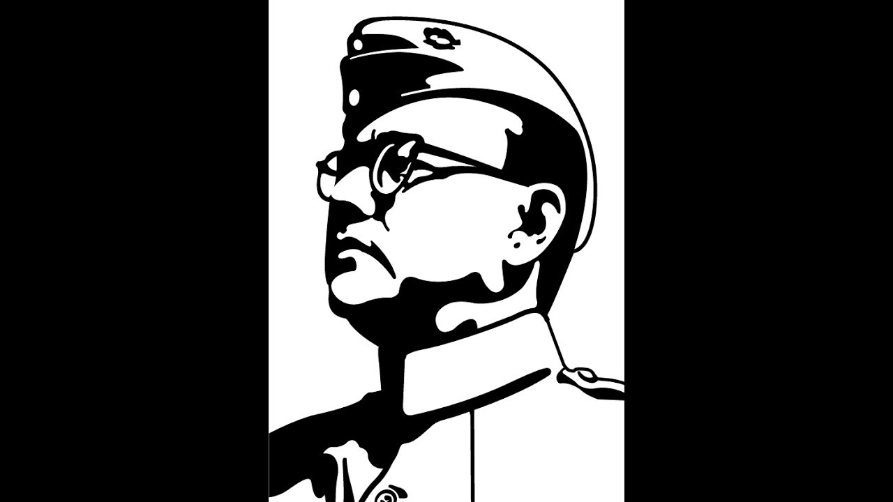 How to draw netaji subhash chandra bose face drawing step by step