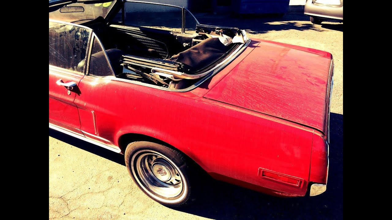 Ford Mustang 1964 1966 Convertible Top Replace Youtube
