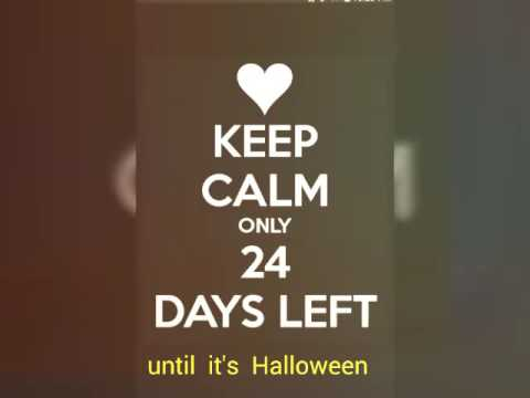24 more days until Halloween - YouTube