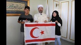 Diyanet İşleri Başkanı Prof. Dr. Ali Erbaş, KKTC'den gelen öğrencilerle bir araya geldi.