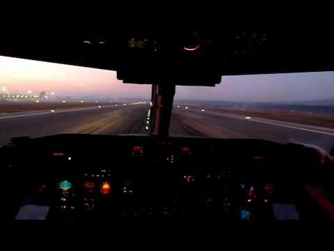 InterSky Dash8-300 Landeanflug Auf Girona / Barcelona (GER)