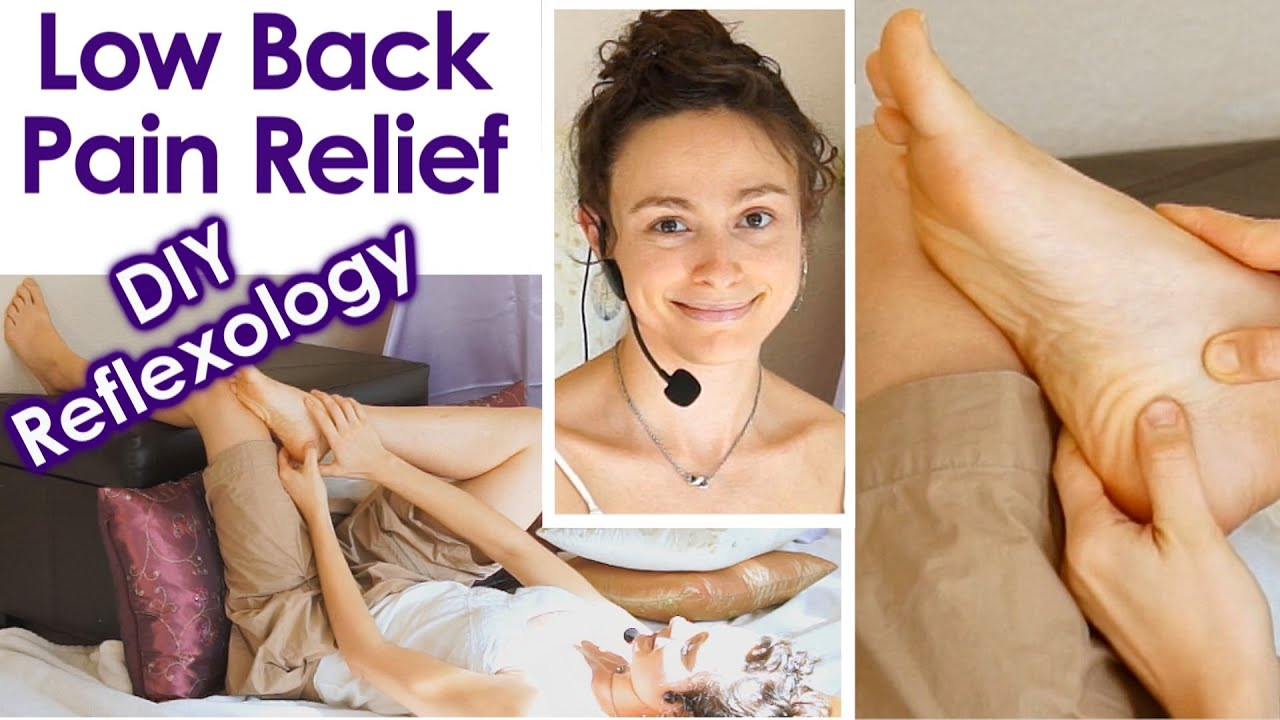 Self foot massage reflexology for low back pain techniques how to