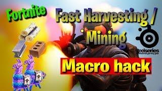 Fortnite - Fast Harvesting macro hack🔥🔥. Season 4 WORKING. For STEELSERIES