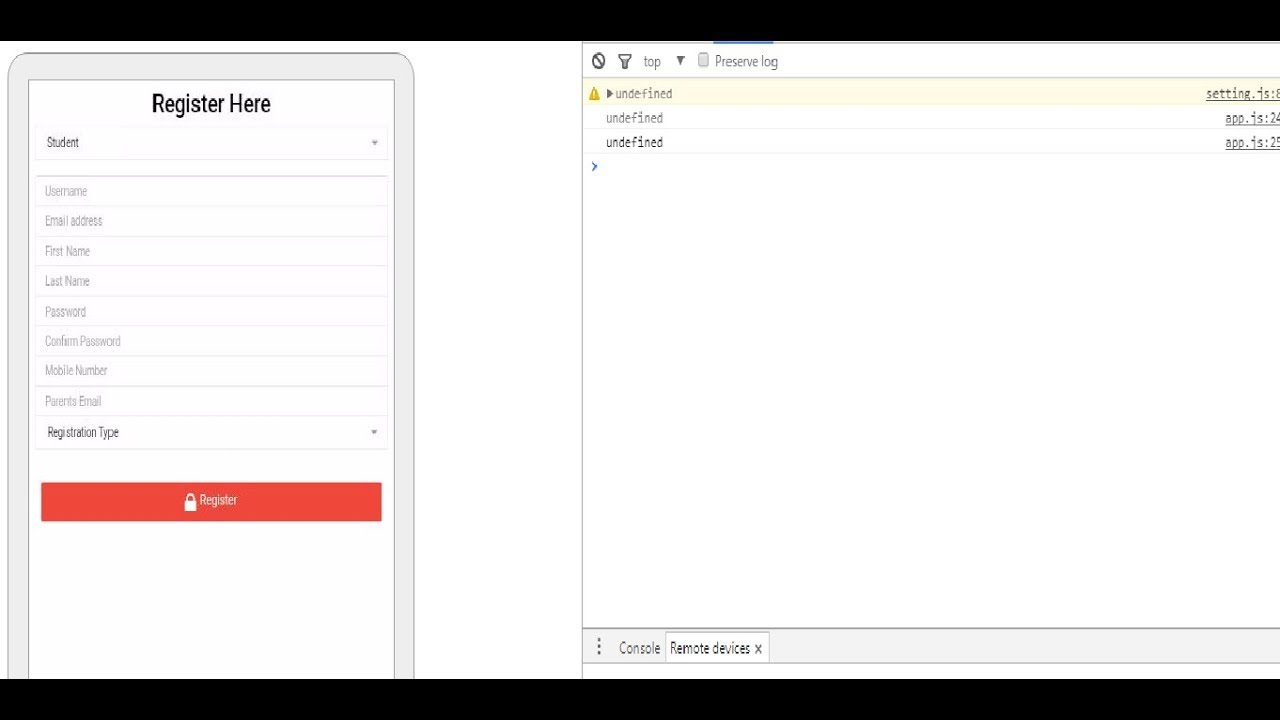 Build APK and Remote debugging of android apps developed by ionic framework