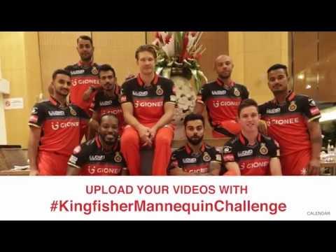 #KingfisherMannequinChallenge with Royal Challengers Bangalore