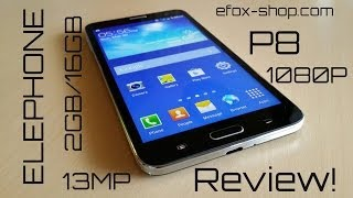 Elephone P8 MTK6592 1.7Ghz 1080P 2GB/16GB Octacore - Review!