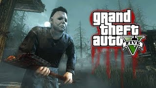 SCARY MICHAEL MYERS HALLOWEEN 2018 GTA 5 MOD (CAN WE ESCAPE??)