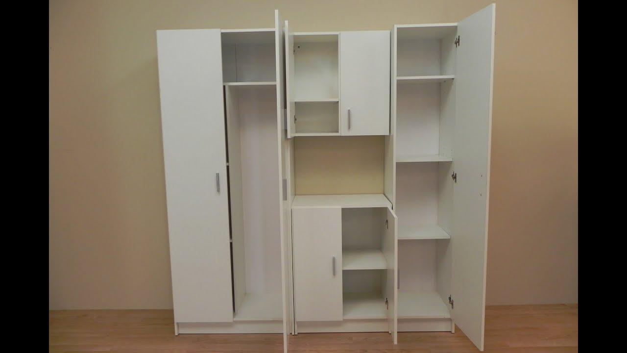 Armario de almacenamiento auxiliar blanco de despensa - Armarios para despensa ...
