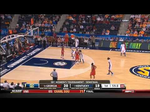 03/09/2013 Georgia Vs Kentucky Women's Basketball Highlights