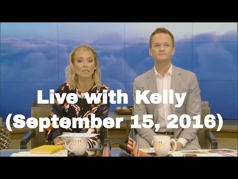 Live with Kelly (September 15, 2016) co-host Neil Patrick Harris, Colin Firth, Bill O'Reilly