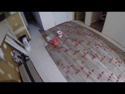 Kitchen Wood Look Plank Tile Installation 6x36 - Kitchen Wood Look Plank Tile Installation 6x36 - YouTube
