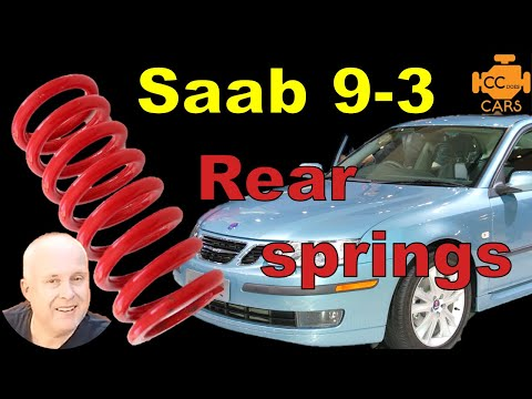 Saab 9-3 Rear Coil Spring Replacement | SO EASY DIY