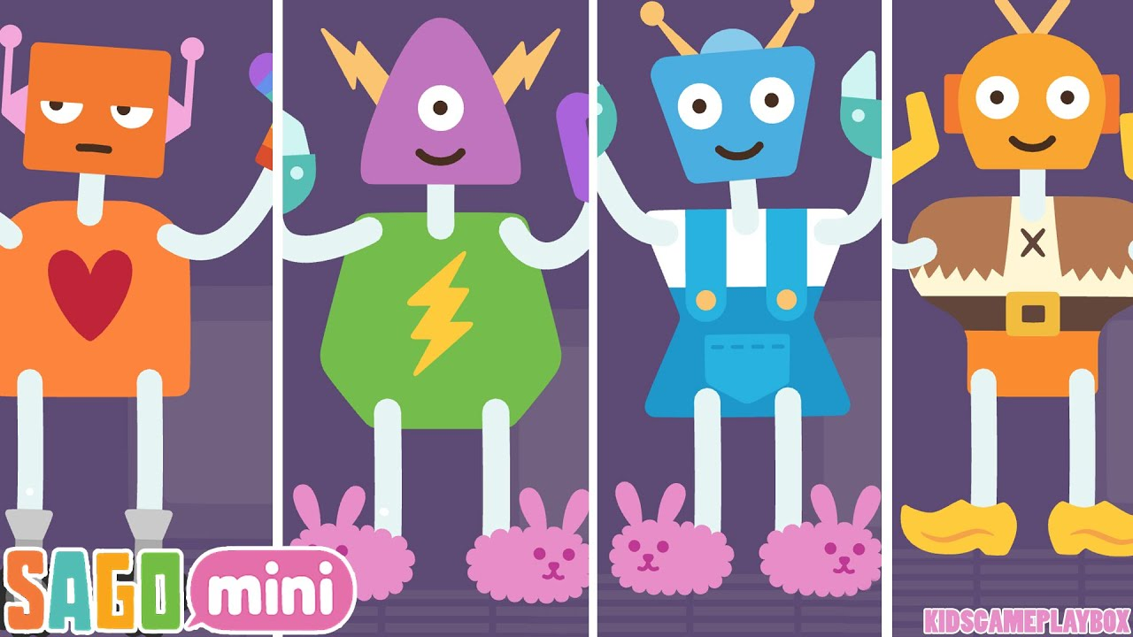 Sago Mini Robot Party Best Game for Kids iPhone iPad iPod